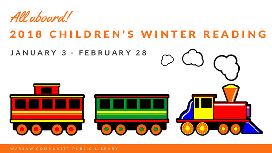 2018 Children's Winter Reading train banner